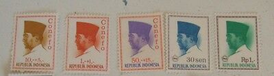 1966 Sukarno Indonesian Stamps