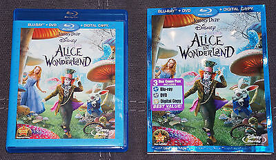 Alice In Wonderland Blu-Ray/dvd 2010 Excellent Condition Adult Owned & Perfect!