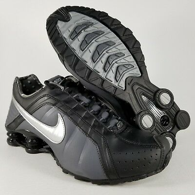 074a2bf34423 Nike Womens Shox Junior Running Shoes Size 8.5 Athletic Sneakers Black  Silver