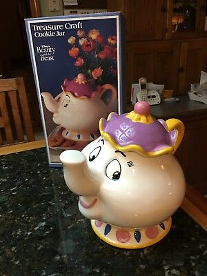 Disney Beauty And The Beast Mrs. Potts Teapot Cookie Jar By Treasure Craft