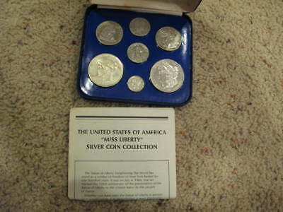 "United States ""Miss Liberty"" Silver Coin Collection w/ 1858 Seated Half Dollar"