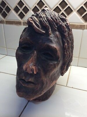 Rare !!  Old Life Size Head Sculpture