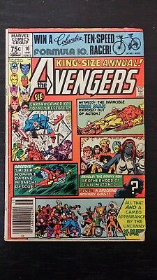 1981 Marvel Comics The Avengers King Size Annual #10 1St App Rogue Vg+