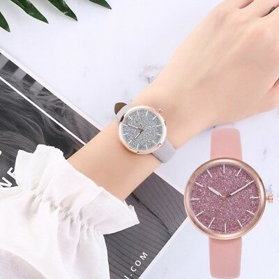 Fashion Women's Mesh Watches Luxury Casual Leather Quartz Analog Watches Gift