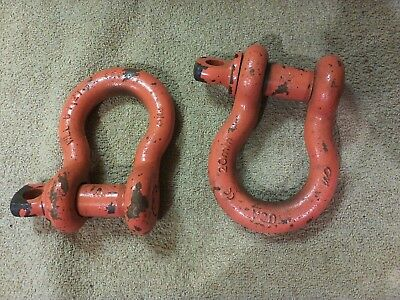 "Clevis Shackles Wll 6-1/2 T 3/4 6-1/2 Ton Anchor Shackle, Screw Pin, 3/4"" Carbon"