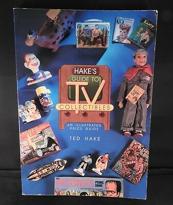 Antique reference book Hake's Guide to TV Collectibles Illustrated Price Guide