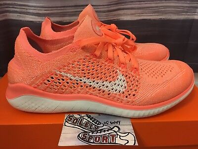 online store 90d0a ea17c New Nike Free Rn Flyknit 2018 Pink 942839-801 Air Max Running Shoes Womens  Size