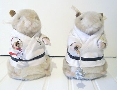 Lot of 2-Gemmy Hamsters Dancing Singing Kung Fu Fighting Martial Arts Working