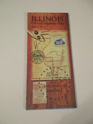 Illinois 1993-1994 Official Highway Travel Road Map