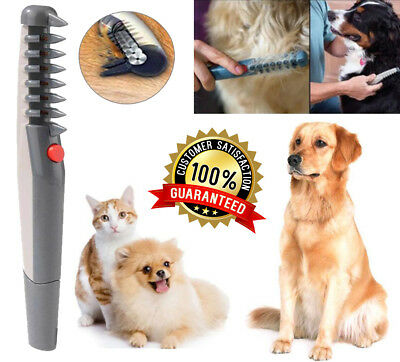 Electric Hair Grooming Comb Shaver Cat Pet Dog Trimmer Animal Brush Knot Removal