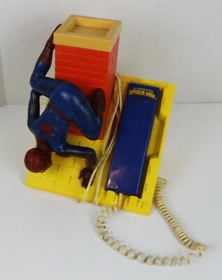 Vintage 1984 The Amazing Spider-Man Marvel Comics Telephone Phone Push Button