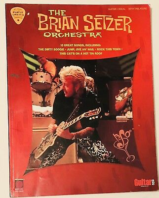 The Brian Setzer Orchestra Guitar/Vocal Music Book With Tablature