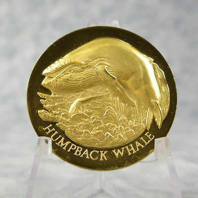 Americas Natural Legacy HUMPBACK WHALE Gold on Sterling Medal 35 grams