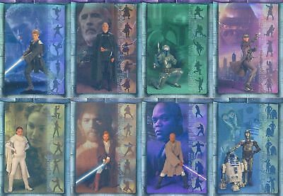 Star Wars Attack of the Clones - Prismatic Foil Chase Card Set (8) - NM