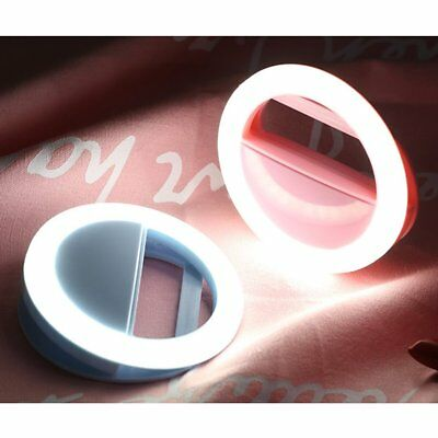 Rechargeable Selfie Portable LED Ring Fill Light Camera for iPhone Android CA