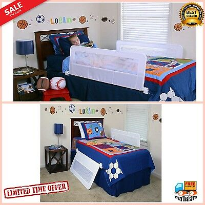 Double Sided Swing Down Bedrail Crib Toddler, Elderly, Child Safety Net Guard