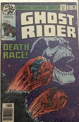 "GHOST RIDER #35 APRIL 1979 VERY FINE ""DEATH RACE"" Signed - JIM STARLIN"