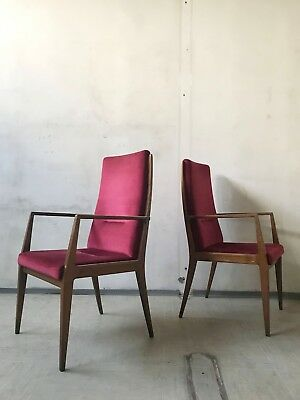 1of20 VINTAGE MID CENTURY 50s 60s HIGH BACK WOODEN CHAIR ARMCHAIR DINING CHAIR