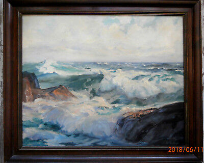 Original 20Th Century Realist Seascape Signed G.phillips,O/C In Exc.cond.