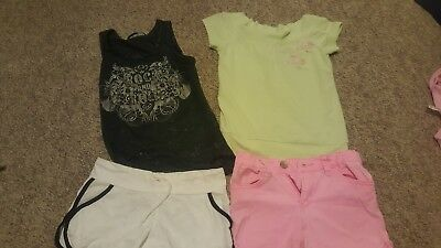 Girls size 8 mixed bundle of summer clothes