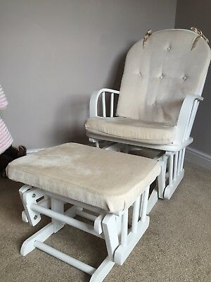 Nursery Rocking Glider Chair With Footstool