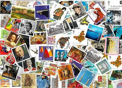 (2) GREAT BRITAIN - Commemorative Stamps Kiloware Approx 40 gms on Paper 2 scans
