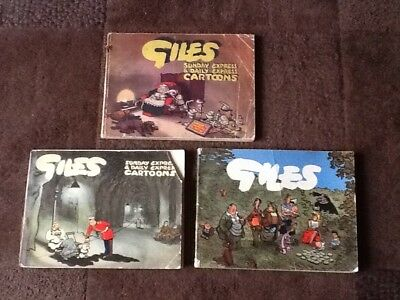 Job Lot of 3 Giles Annuals (sixth, seventh, tenth - series 6, 7, 10)