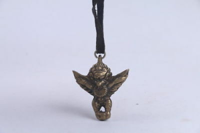 Exquisite Collection Chinese Handwork carving brass Pendant