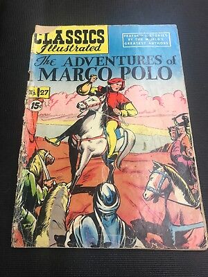 classics illustrated 27 Comic Book Adventures Of Marco Polo No 27 Hrn117 Gd