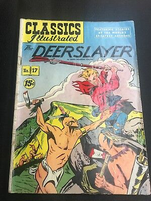 classics illustrated 17 comic Book THE DEERSLAYER NO 17 HRN 118 Ungraded