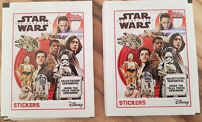 Topps - Star Wars The Last Jedi 20 Booster 100 Sticker