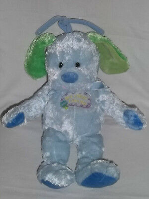 COMMONWEALTH Crib Pull Plush DOG Puppy Musical Toy MY FIRST FRIEND Blue Stuffed