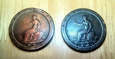 Metal Detecting Finds, Two George Cartwheel Penny's...