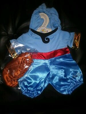 NEW! Build A Bear Workshop Disney ALADDIN Genie Costume Outfit + Lamp Shoes