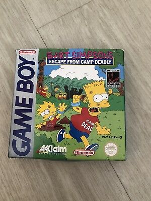 Simpsons Escape From Camp Deadly Gameboy Empty Box