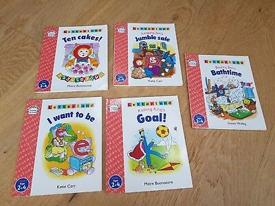 Letterland reading books, Age 2-4 Stage 1. 5 books