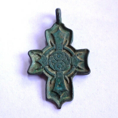 Celtic Scandinavian Ancient Artifact Bronze Cross