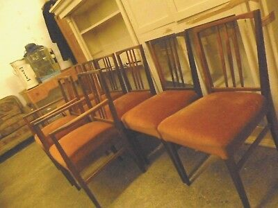 Vintage 1950's/60'S  Set Of 8 SOLID Rosewood Gordon Russell Dining Chairs