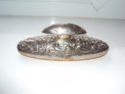 Antique Dated 1912 Sterling Silver Hallmarked Ladies Nail Buffer !!