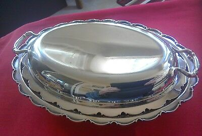Superb antique silver plate tureen circa 1900 by William Hutton Sheffield
