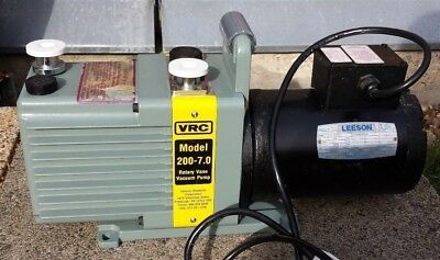 VRC 2 Stage Rotary Vane Vacuum Pump 240 volts - Refurbished