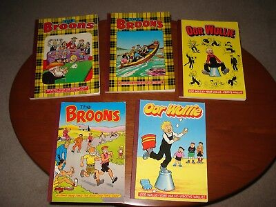 The Broons/Oor Wullie Albums 1979/83/86/87/90 Good Readable Condition