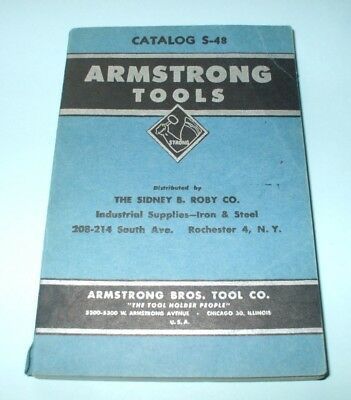 Vintage Armstrong Tools No. S-48 Tool Catalog