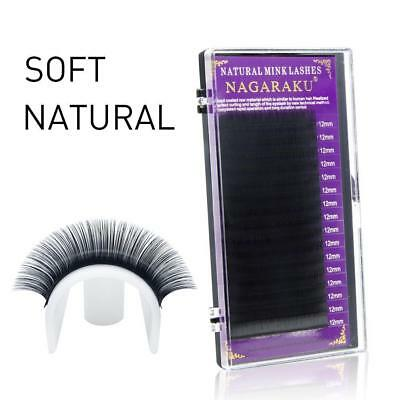 Nagaraku Lashes Faux Mink Eyelash Individual Cilia Premium Extension Soft 16rows