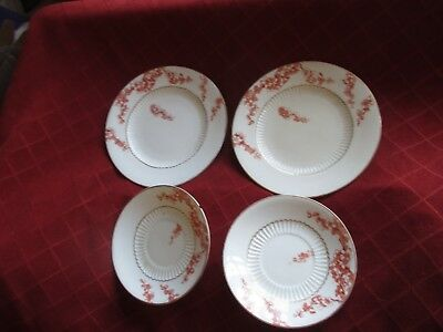 2 george jones crescent china plates c 1890s,and 2 saucers