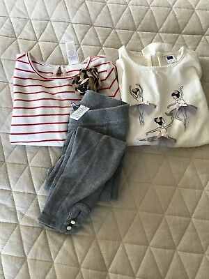 Janie And Jack Girls Size 5/6/7 Lot Of 3 Items