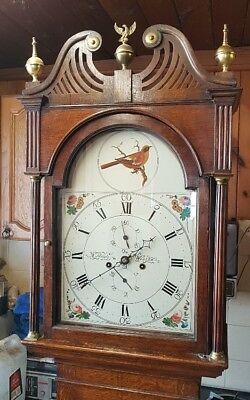 A Georgian 8 day Antique Oak Longcase Tallcase Grandfather Clock C1800