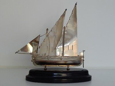 Maltese Hallmarked Solid Silver Sail Boat