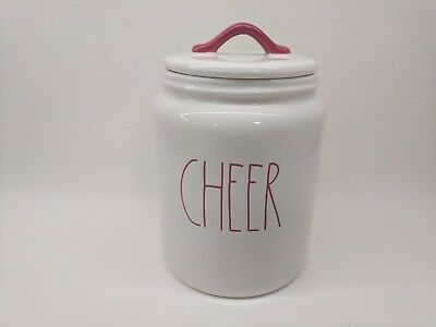 RAE DUNN by Magenta CHEER Canister Christmas 2018 *NEW*