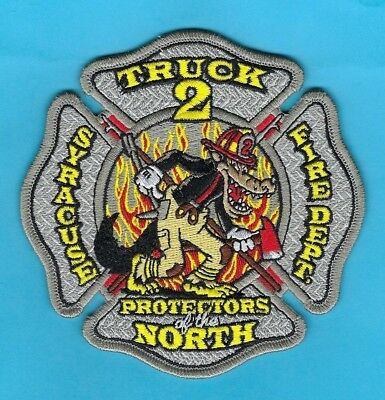 """Syracuse Fire Dept Truck 2 Company Patch ~ New York ~ """"Protectors Of The North"""""""